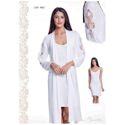 Комплект халат-пеньюар и сорочка Luisa Moretti (ESC 4042)