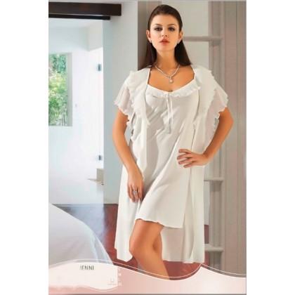 Халат-пеньюар и ночная сорочка Jenni