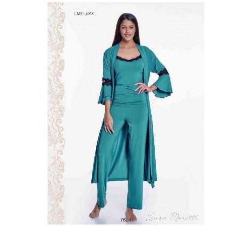 Комплект - тройка. Роскошные халат, брюки и топ Luisa Moretti (ESC 4038)