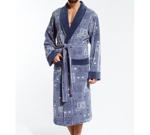 Велюровый халат мужской из бамбука DIGITAL (EP 7490)