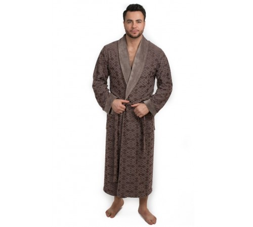 Велюровый халат мужской из бамбука DYLON (EPP M121)