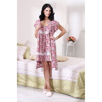 Домашний комплект из ночной сорочки и халатика Spanish girl (E 202-201)