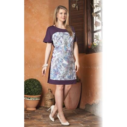 Легкое платье из натуральной вискозы (EVA 517)