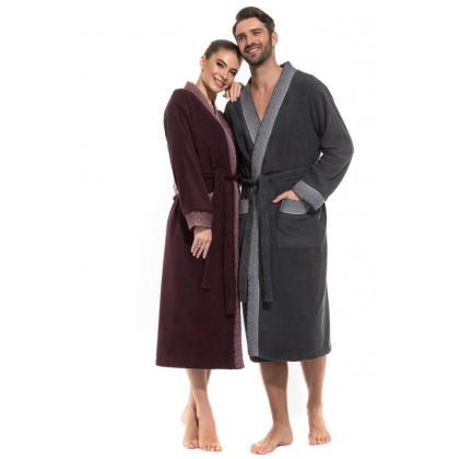 Стильный махровый халат Family look Fantaisie (PM France 737)