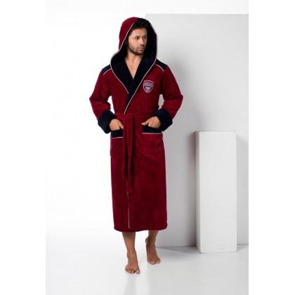 Махровый халат с капюшоном из бамбука Atletic Sport (EN 2810)