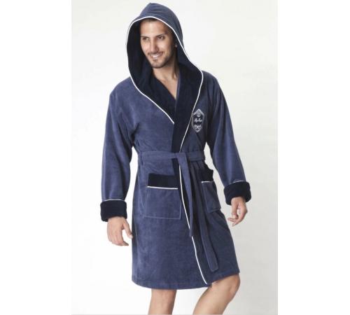 Укороченный махровый халат с капюшоном из бамбука Marksman (EN 7160-1)