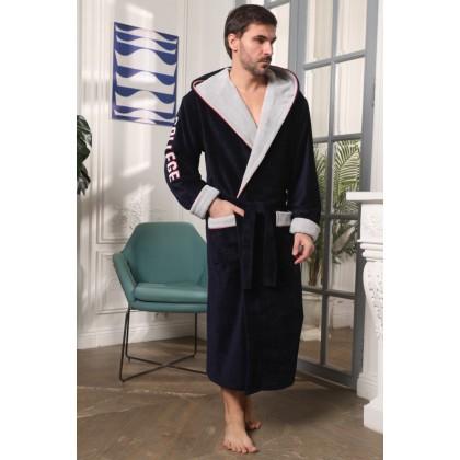 Мужской халат с капюшоном College (EFW)