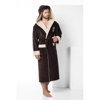 Махровый халат с капюшоном из бамбука Wild Lion (EN 2930)