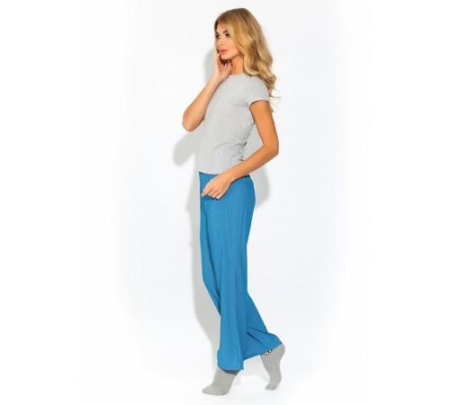 Свободные брюки женские из индийского штапеля Lights (E 1414/#2)