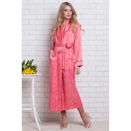 Атласный халат женский из бамбука Silk bamboo (EN 9210)