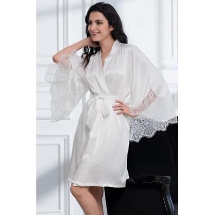 Укороченный шелковый халат Afrodita (EM 2163)