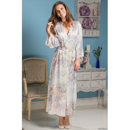 Шелковый халат женский удлиненный Lilianna (EMM 5999)