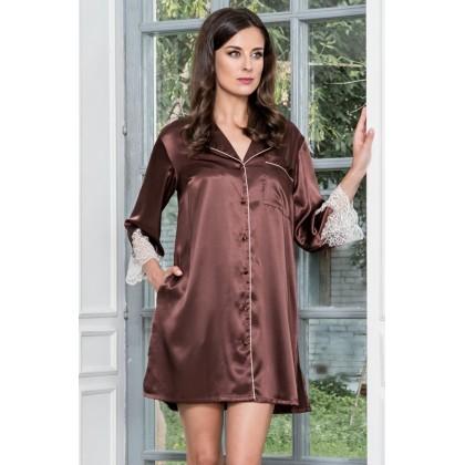 Халат-рубашка шелковый Marilin (3107)
