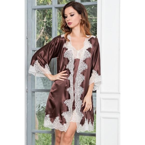 22e9c73b467e9 Шелковый халат женский Marilin (3103) купить по выгодной цене ...