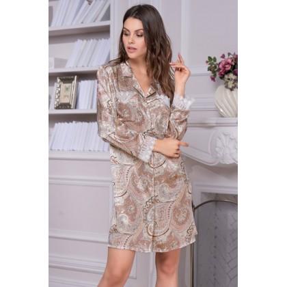 Рубашка-халат из натурального шелка CLEMENTINA (EMM 3457)