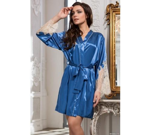 Шелковый халат женский с кружевом CHANTAL (3193)