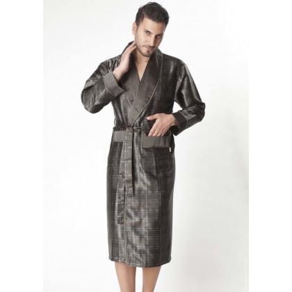 Мужской шелковый халат Steel haky (8015)