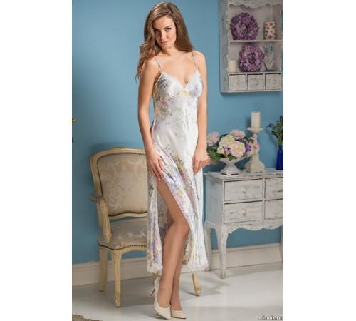 Сорочка женская длинная из натурального шелка Lilianna (EM 5996)