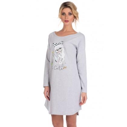 Домашняя туника - сорочка женская из натурального хлопка Lucky girl (E 1424)