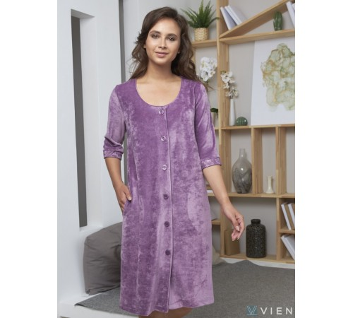 Велюровый халат из бамбука Adel (EFW)