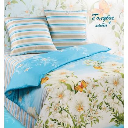 Постельное белье бязь Экзотика Голубое лето*  1.5 спальное
