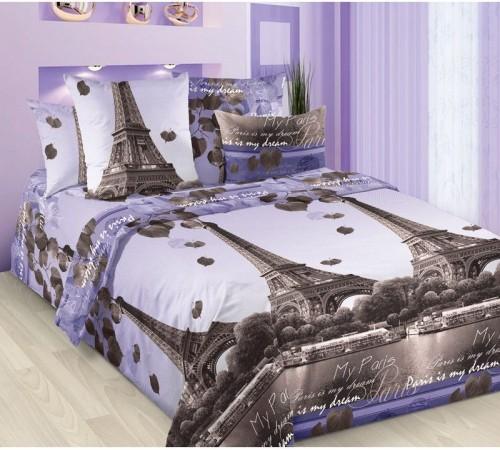 Постельное белье Романтика Парижа Бязь Хлопковый Рай 1.5 спальное