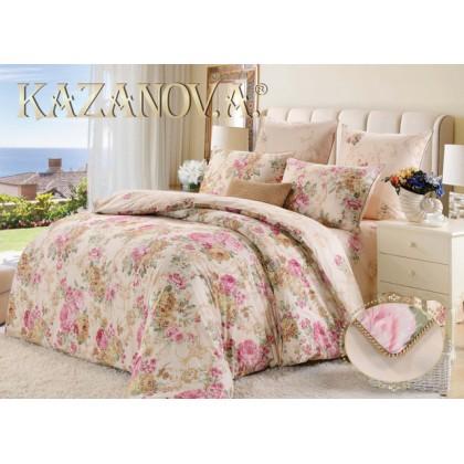 """Постельное белье """"KAZANOV.A"""" сатин Лидия ( молоко ) 1.5 спальное"""