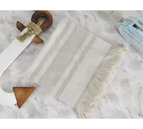 Полотенце пляжное махровое DERIN Stone капучино 80х160