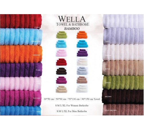 Полотенце банное махровое IRYA Wella Mercan красное 50х90