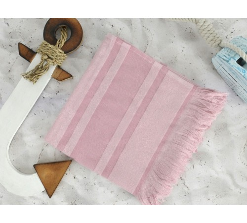 Полотенце пляжное махровое DERIN Rose розовое 50х90
