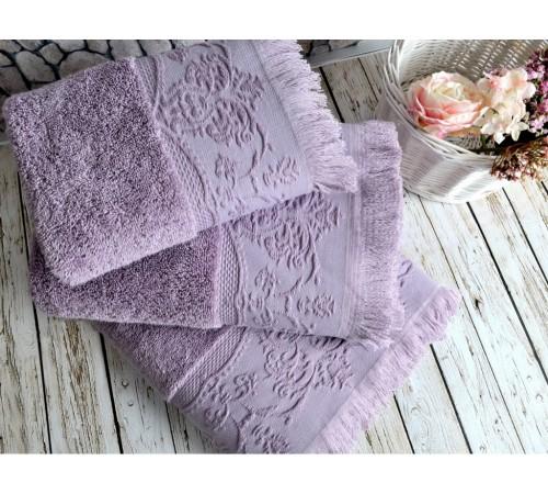 Полотенце банное махровое IRYA Feronia Mudrum фиолетовое 90х150
