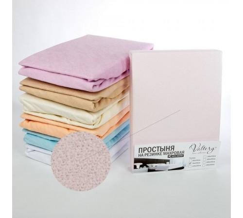 Простынь на резинке махровая (PM розовая) Вальтери 200х200 розовая