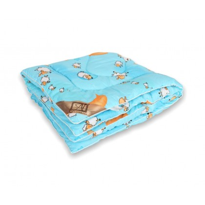 """Одеяло детское из овечьей шерсти """"Овечка"""" 110х140 классическое"""