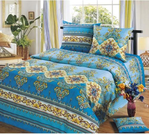 Постельное белье Версаль голубой Бязь Хлопковый Рай 2 спальное