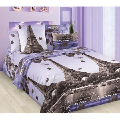 Постельное белье Романтика Парижа Бязь Хлопковый Рай 2 спальное