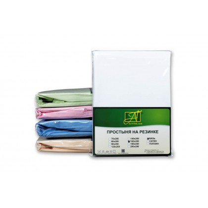 Простыня на резинке бязь 90х200 белая